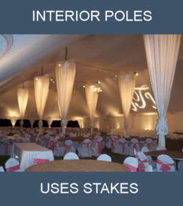 linen pole swags