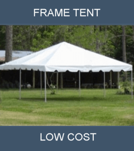 low cost frame tent