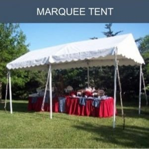 Marquee style tent