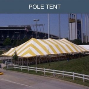 Traditional pole tent